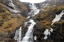 Kjosfossen Waterfall has a 305 foot fall
