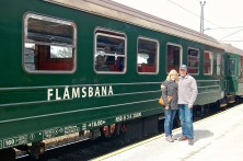 Ready to board the Flåmsbana Train