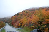 The view along the Linn Cove Viaduct, Blue Ridge Parkway