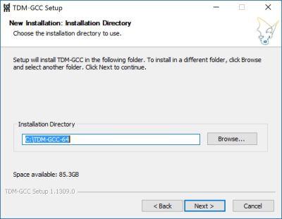 tdm-gcc-64-new-installation-directory