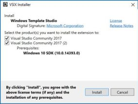 VSIX-WindowTemplateStudio-Installer