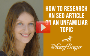 How to Research an SEO Article on an Unfamiliar Topic