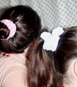Fabric covered ponytail holders sewing tutorial