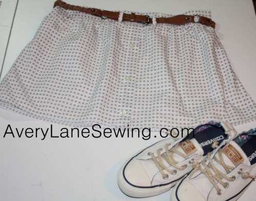 A Button Down Skirt Sewing Tutorial on Avery Lane Sewing Blog