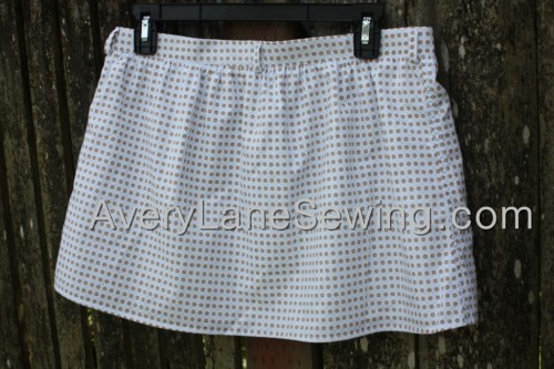 Avery Lane Sewing Blog A Button Down SKirt Upcycle Turorial