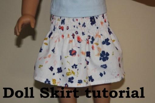 AG Doll Skirt tutorial