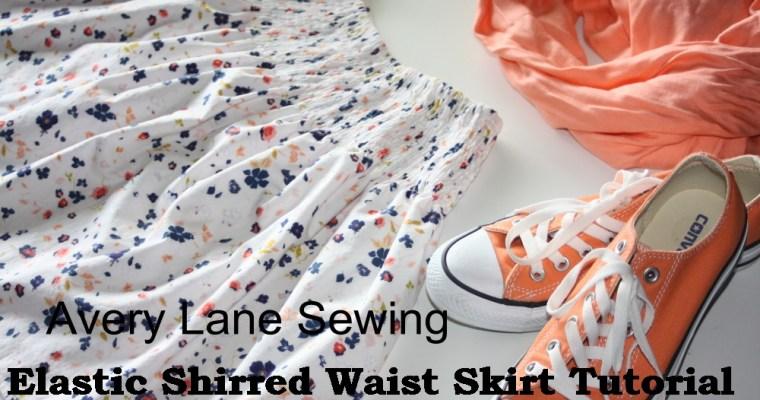 Shirred Waist Skirt Tutorial (for doll, too)
