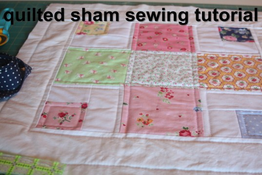 how to make a quilted sham to match quilt easy tutorial