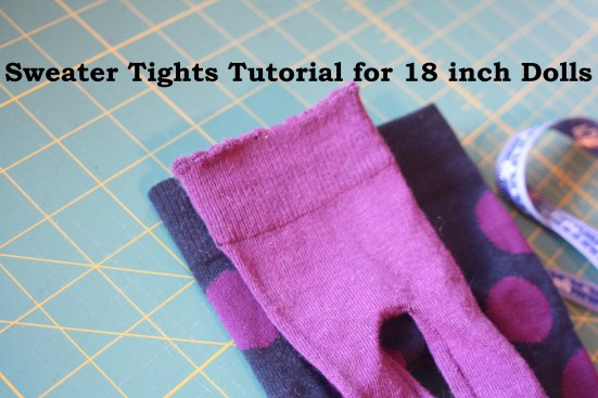 Tights for Dolls using knee highs Avery Lane Sewing blog
