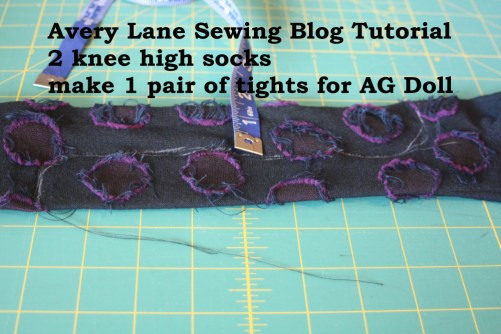 avery lane sewing tutorial Knee high Socks to AG Doll tights