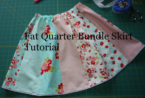 Fat Quarter Bundle Skirt Country Skirt Sewing  Tutorial finished