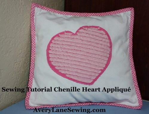 Sewing Tutorial Faux Chenille Heart Appliqué AveryLaneSewing.com 14