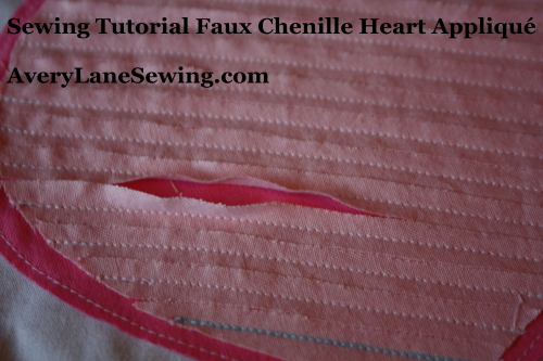 Sewing Tutorial Faux Chenille Heart Appliqué AveryLaneSewing.com 3