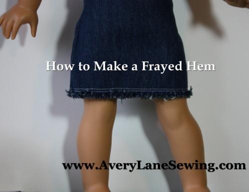 frayed hem tutorial AveryLaneSewing