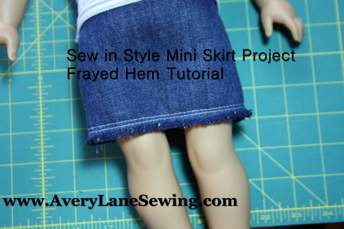 frayed hem tutorial Sew in Style - Make Your Own Doll Clothes 9c