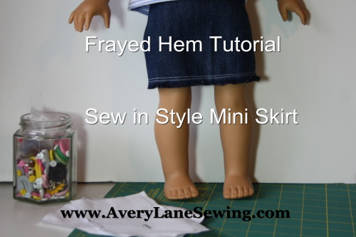 frayed hem tutorial Sew in Style - Make Your Own Doll Clothes 9d