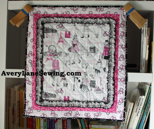 Timeless Treasures Bonjour Doll Quilt Sewing Tutorial 4a