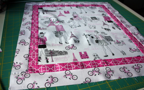 doll quilt tutorial Bonjour Fabric by Timeless Treasures 4