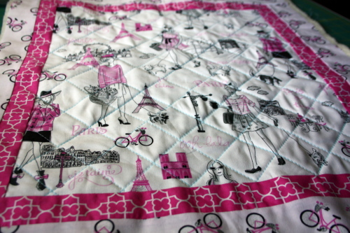 doll quilt tutorial Bonjour Fabric by Timeless Treasures 6