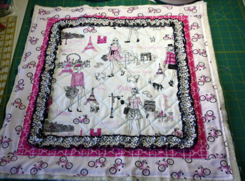 doll quilt tutorial Bonjour Fabric by Timeless Treasures 8