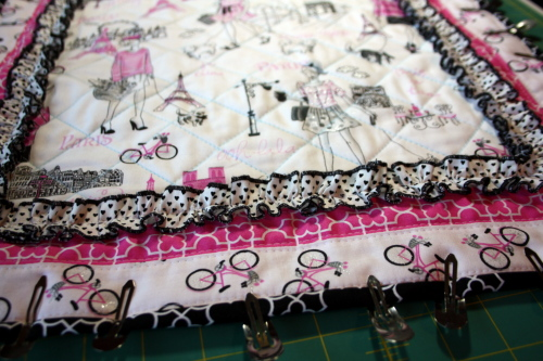 doll quilt tutorial Bonjour Fabric by Timeless Treasures 9a