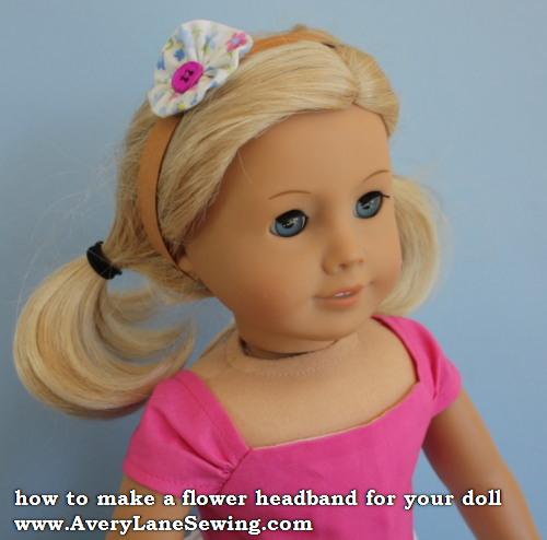 Flower Headband for Dolls – Tutorial