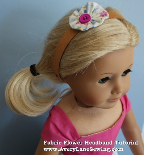 Kraft Tex headband tutorial for dolls 2 www.AveryLaneSewing