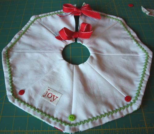 Too Cute Doll Sewing Magazine mini tree skirt tutorial blog sew along 6
