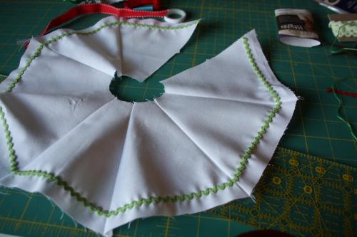 Too Cute Doll Sewing Magazine mini tree skirt tutorial blog sew along