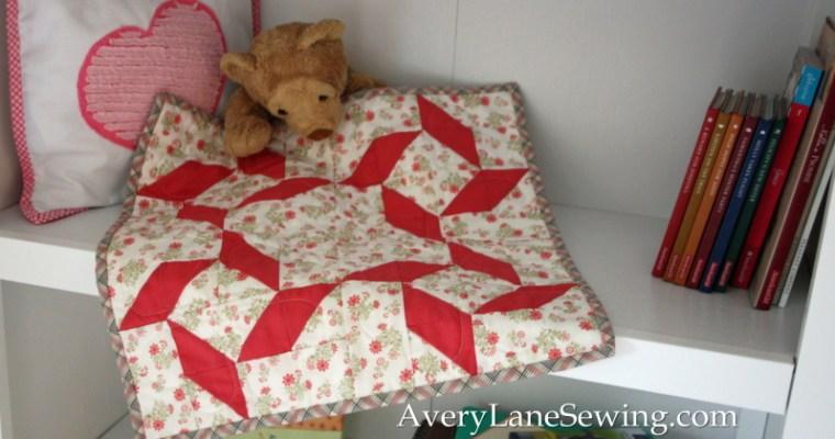Twirly Block Doll Quilt