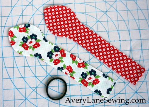 Doll knot bow headband sewing tutorial AveryLaneSewing 2