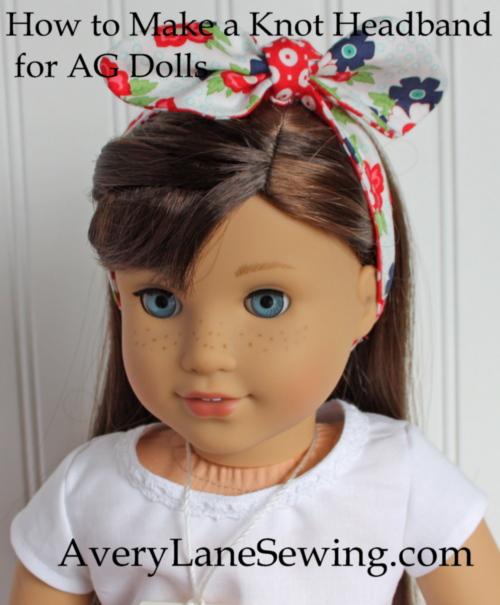 18″ Doll Knot Bow Headband Sewing Tutorial