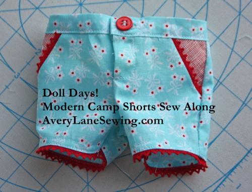 Modern Camp Shorts for AG Dolls Sew Along