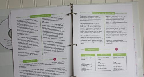 Scheduling Class pages of Teacher's manual