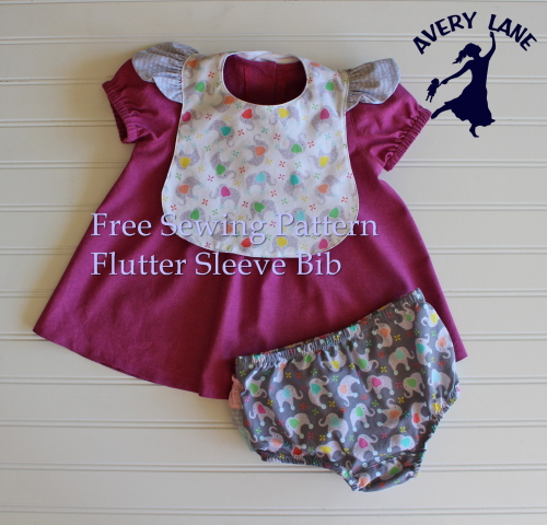 DIY Baby Shower Gift Set: Free Sewing Pattern Flutter Sleeve Bib and ...