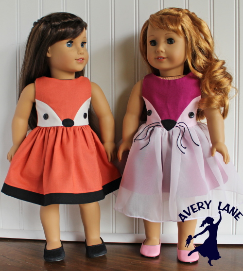 New Fiona Fox Dress Pattern for Dolls
