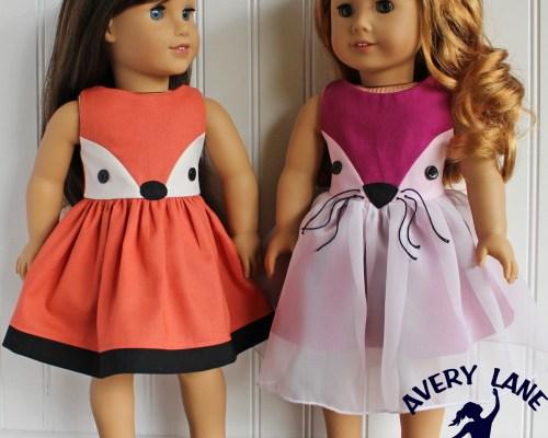 New Fiona Fox Dress Pattern for Dolls