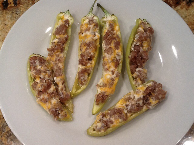 On a quest to recreate Sausage-Stuffed Banana Peppers