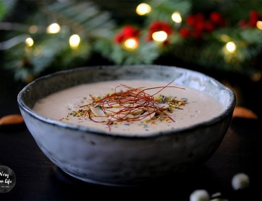 vegane Suppe mit Mandeln