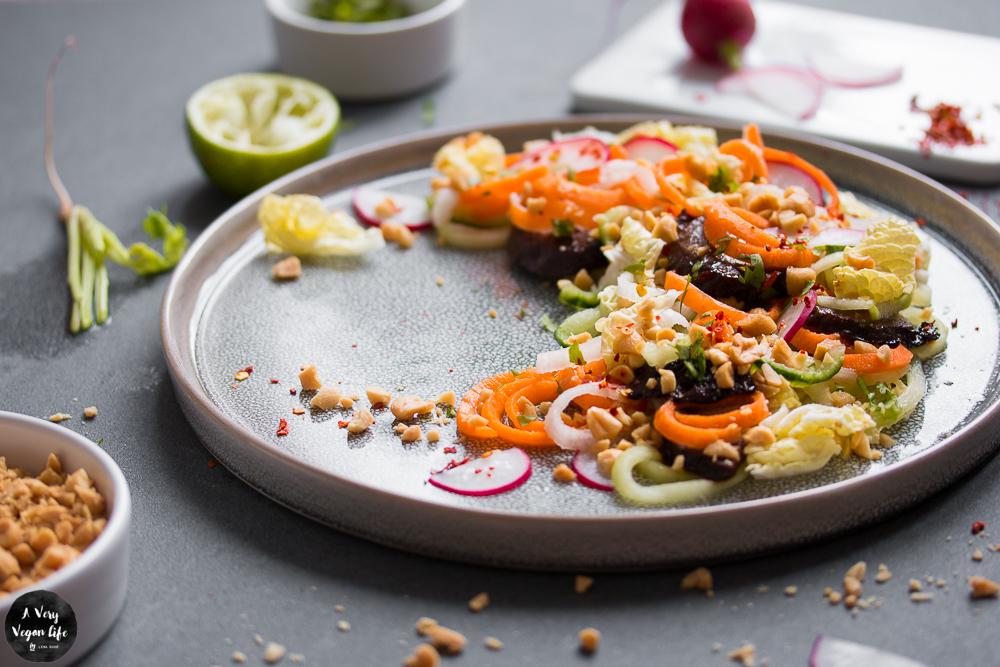 Spiralschneider-Salat-vegan