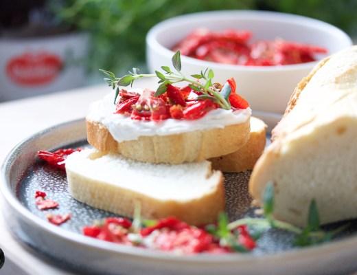 Getrocknete Tomaten aus dem Dörrgerät, geeignet um Aufstriche zu verfeinern