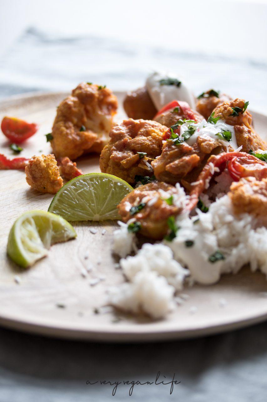 Indisch essen, dazu vegan: Aloo Gobi mit Blumenkohl