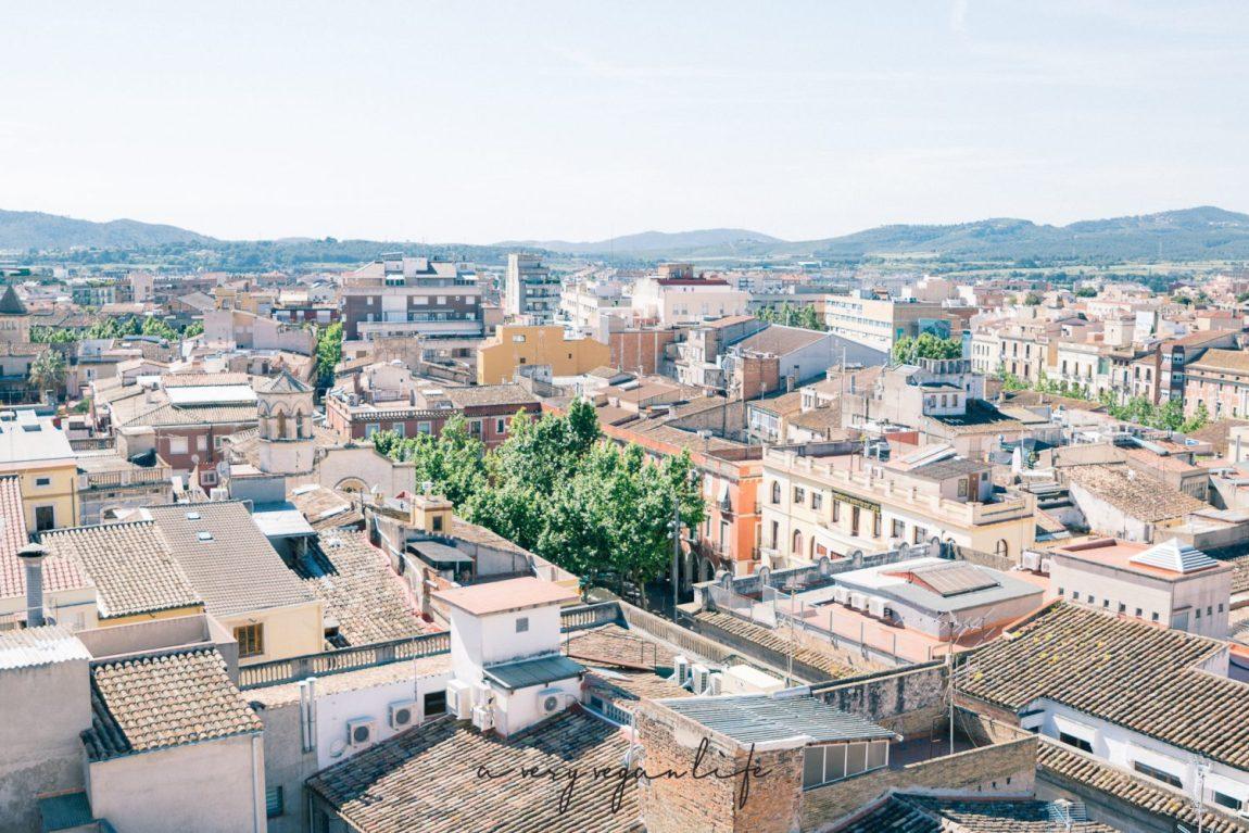Vilafranca del Penedès von oben