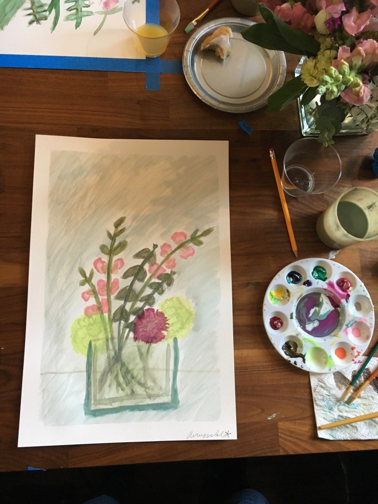 level up louisville watercolor class
