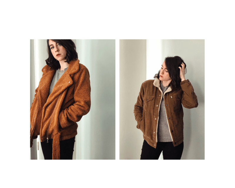 brown teddy coat sherpa coat