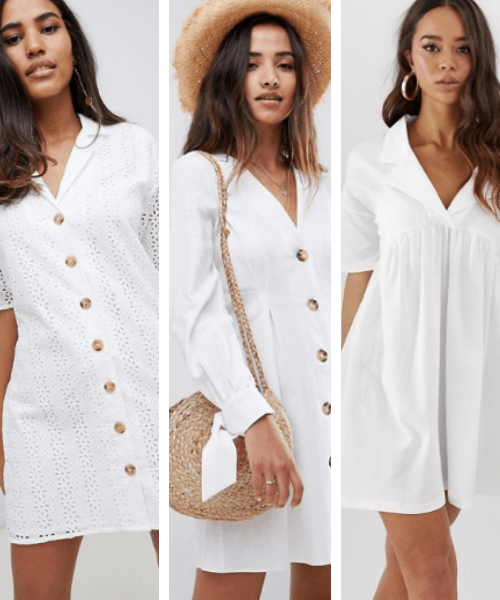 little white dress ASOS summer