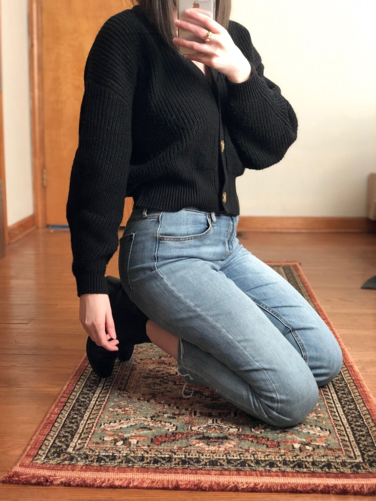 how to wear a cropped cardigan