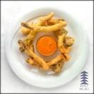 avet blau restaurant montseny calçots amb tempura i salsa romesco
