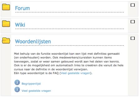 Blok Moodle Folder format
