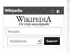 Blok Wikipedia in Moodle
